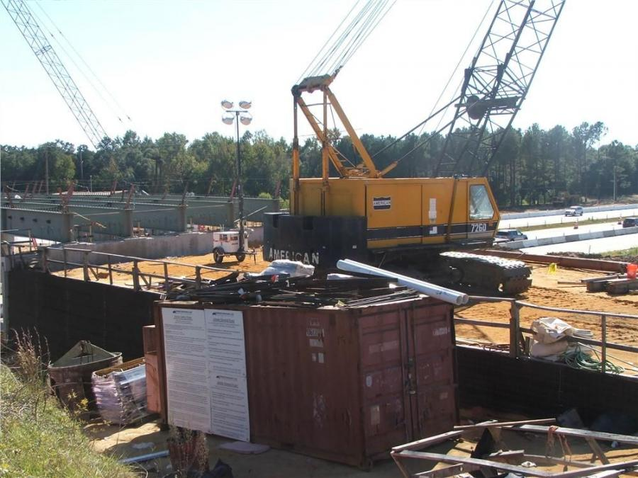 The two cranes on the job are owned by United Contractors LLC, Great Falls, S.C.