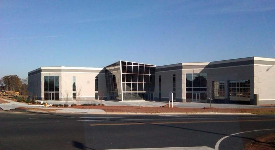 The first building in the South Fork Business Park in Mooresville, N.C., is nearing completion by L.B. Builders Construction Group.