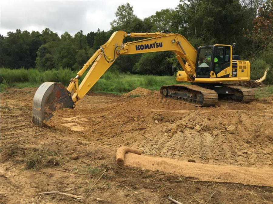 Wright Contracting LLC is currently in the middle of a stream and wetland mitigation project in North Carolina.