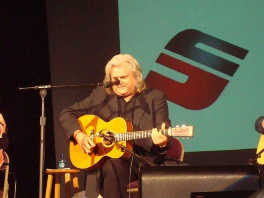 Ricky Skaggs put in a surprise appearance at the ThanksUSA concert in Nashville, Tenn.