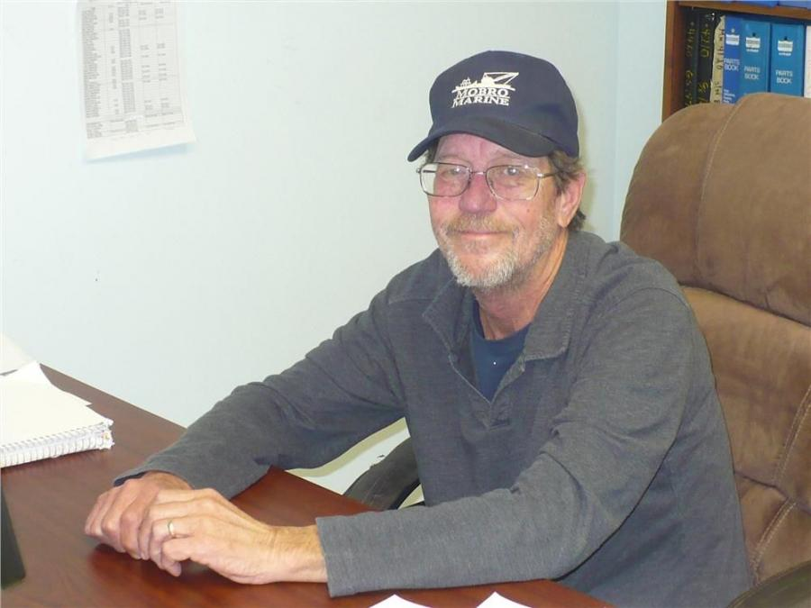 Billy Harper, parts manager of Mobro Marine Inc.