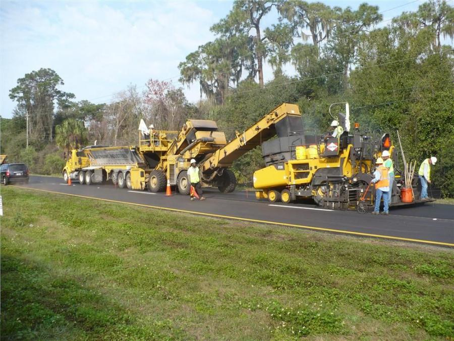 Ajax Paving Industries is hard at work south of Ruskin, Fla., repaving a section of U.S. 41.