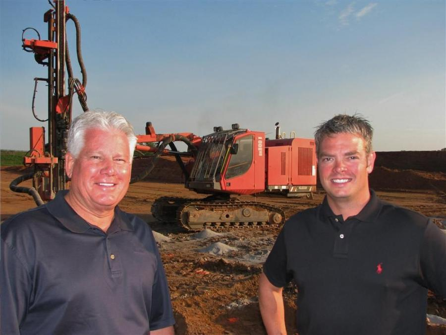 Jack Evans (L), ASC Construction Equipment USA?Inc., and Danny Camp of LK Gregory Construction Inc.