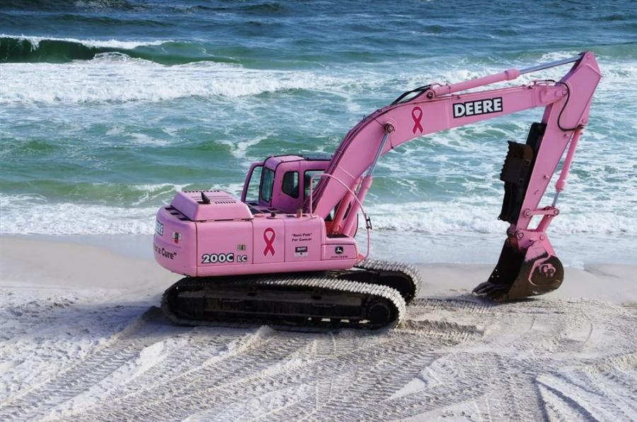 "The ""RENT PINK"" project has rented specially colored pink equipment to customers and local businesses in an attempt to raise donations, awareness and support for fighting cancer, with all rental revenue going to USA Children's & Women&#8"