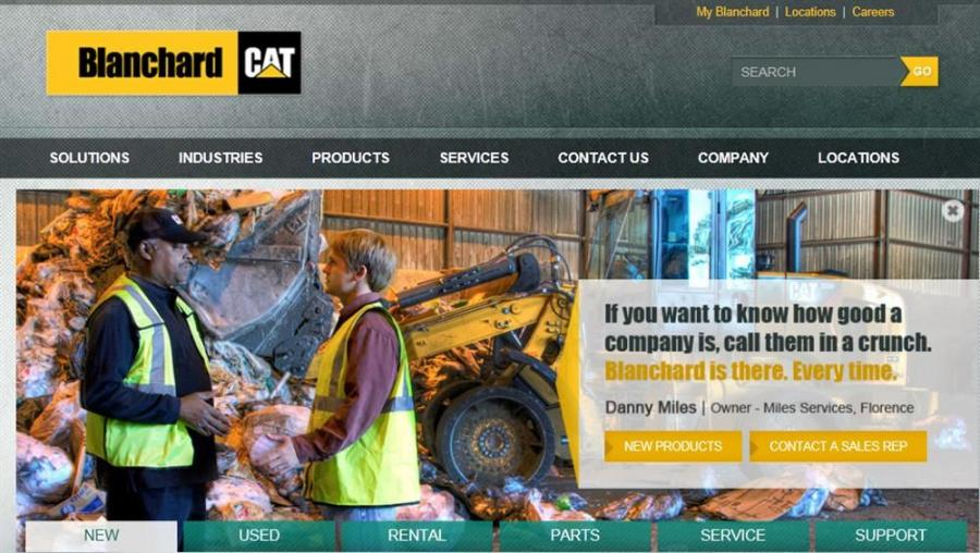 BlanchardMachinery.com's new look poses a user-friendly aspect to the business.