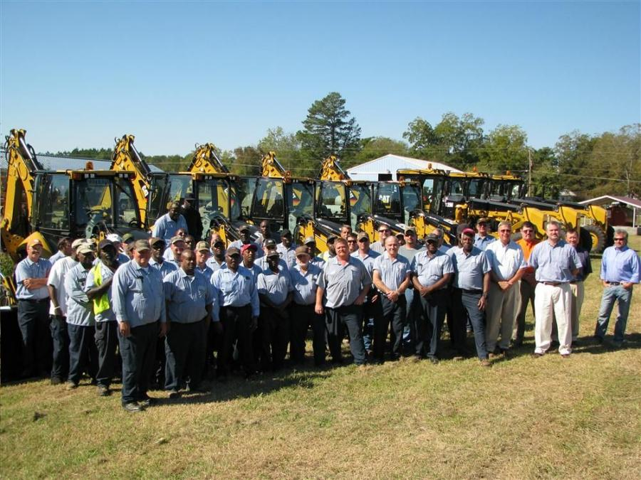 There was a huge turnout for the delivery of Cat machines from Blanchard Machinery and barbecue lunch on a picture perfect South Carolina day.
