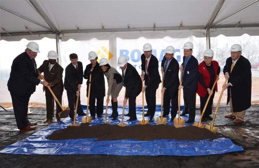 (L-R) at the groundbreaking are Mike Briggs — president and CEO Central South Carolina Alliance; Milton Pope — Fairfield County administrator; Philip Land — regional director of Sen. Lindsey Graham's office; Carolyn Robinson —