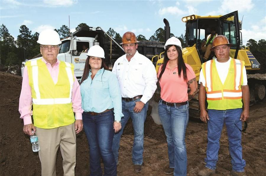 The ownership and management team of Capps Land Management companies includes (L-R) Edwin Capps, April Capps, Jason Freeman, JoAnn Capps and longtime employee Ray Nipper.
