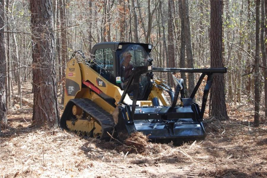 Daniel de los Reyes used a Cat 279C2 compact track loader to clear the land.