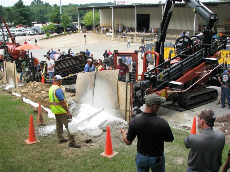 "Approximately 200 guests from all parts east of the Mississippi River, including areas in Canada, made their way to Ditch Witch of Georgia in Forest Park, Ga., for two days of rock drilling instruction at the Ditch Witch ""We Rock"" rock drillin"
