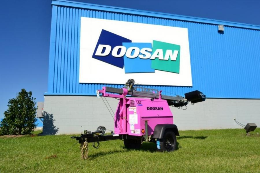 Doosan Portable Power dealer Blanchard Machinery Inc. of Miami, Fla., has added a newly branded pink LSC (LightSource Compact) light tower to its rental fleet.