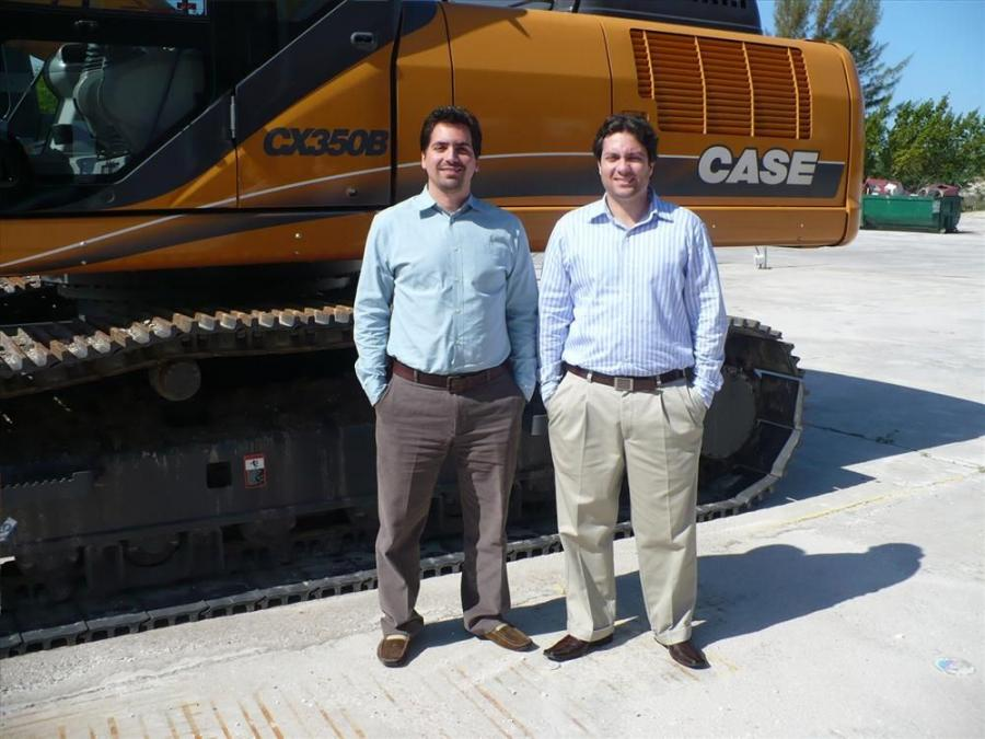 Efraim Vicente (L), vice president of operations, and Sam Silva, vice president of finance, are two of the owners of Trekker Tractor.