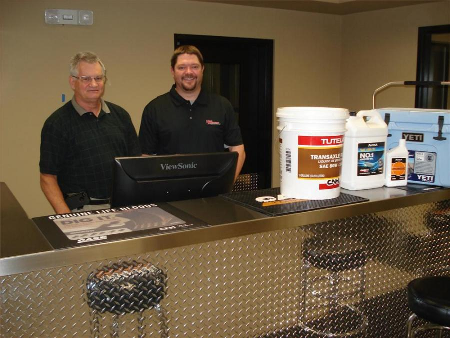 Bob Blevins (L), corporate parts manager, and Troy Reithen, Charlotte parts manager, are ready to help contractors in the Charlotte region with their Case parts needs.