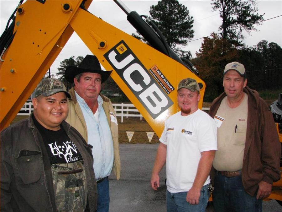 Owners of JCB machines turned out to enjoy the open house event and see their local JCB representatives. (L-R) are John Patterson, Richard Greer, Matthew Asherbranner, and Ronnie Asherbranner of A-1 Backhoe & Hauling, Falkville, Ala.