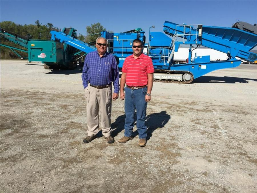 Rick (L) and Richard Sowers of Sowers Construction in Mt Airy, N.C., were interested in a variety of the machines, including the Powerscreen portable crushing units.