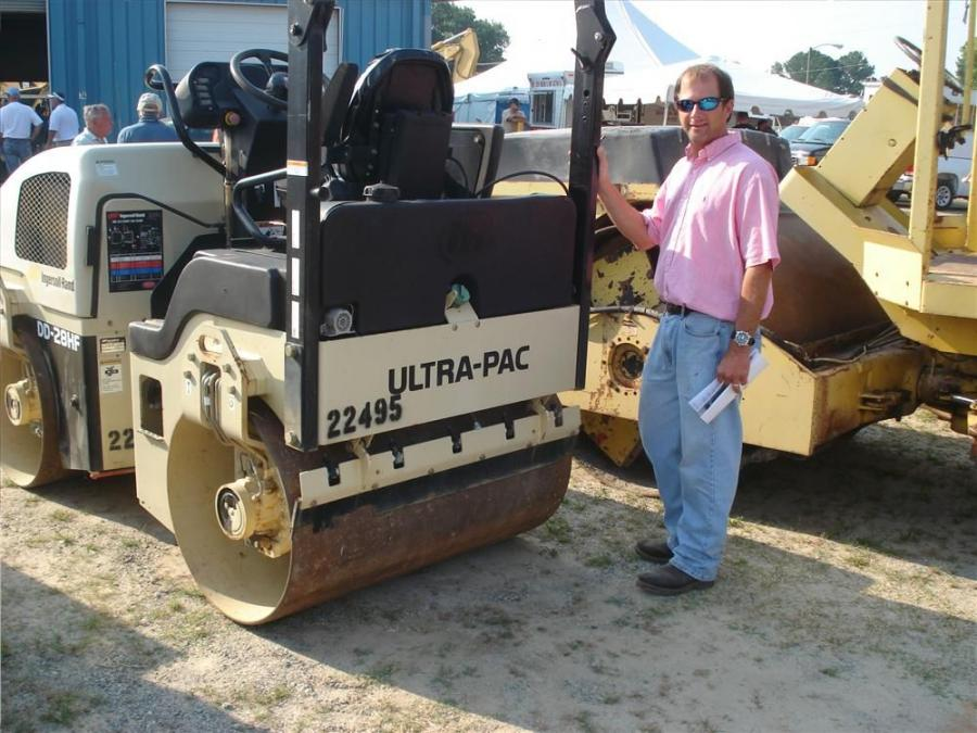 Scott McClendon, Bartholomew Paving, Raleigh, N.C., came to the sale looking to bid on rollers, pavers and a service body truck.