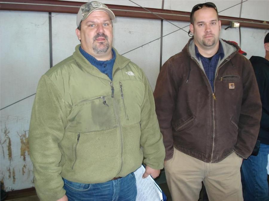 David Vendemia (L), Tar Heel Machinery, Raleigh, N.C., and Josh Kearns, BenchMark Tool & Supply, Raleigh,N.C., came to the sale to network and see who was bidding.