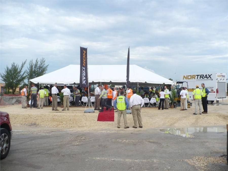 Nortrax broke ground Aug. 31 on its new 25,000 sq. ft. branch in Miami.