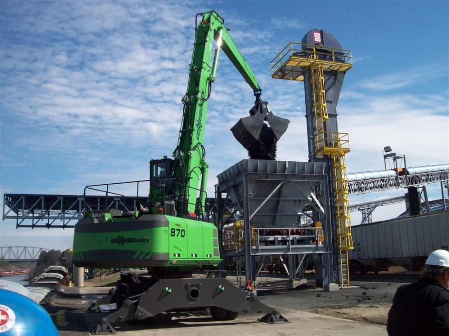 With the conveyors working, a barge can be unloaded in less than 5 hours — 25 percent faster than anticipated.