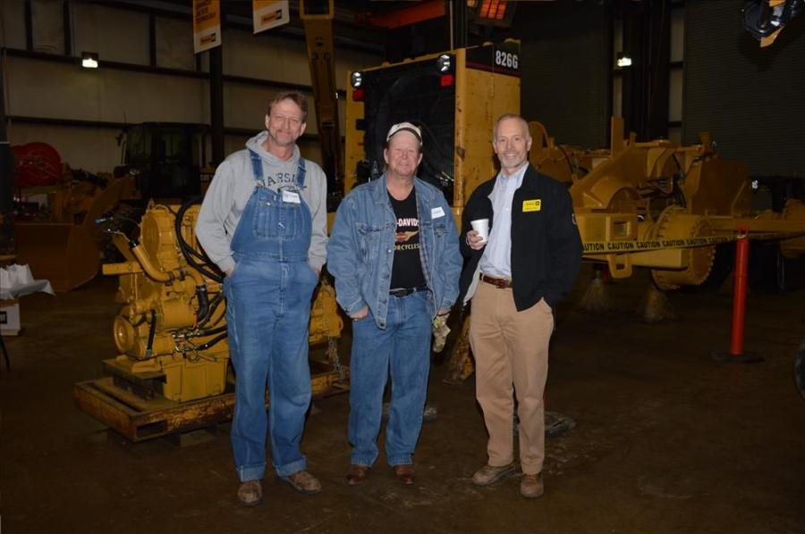 (L-R): Roger and Bobby Cissom speak with Henry Gray, Stowers CAT,  at the Chattanooga breakfast.