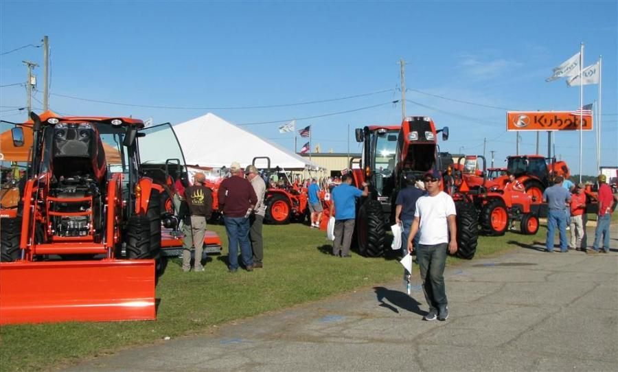 At this year's Sunbelt Ag Expo, Kubota, once again, had a strong showing of machines for the farming and turf management industries.
