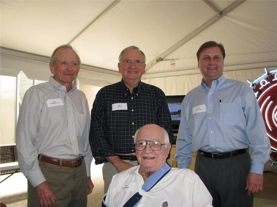 Jim Waitzman (Seated) and (L-R): Jim Waitzman Jr., Bill Roberts and Dan Stracener represent four generations of Tractor Equipment Company CEO's.