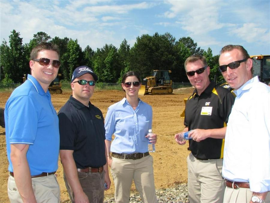 (L-R): Steve Power, industry representative of Cat GCI in Atlanta, Ga.; Ashley Self, training manager of Thompson Tractor in Birmingham, Ala.; Laura Hoppe, Cat product support operations in Atlanta, Ga.; Tommy Lee, customer support agreement manager of Th