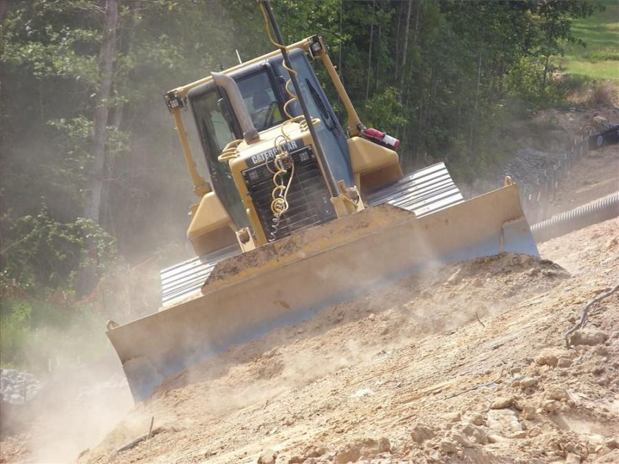 Eutaw Construction is using Topcon 3D-MC2 systems on four Caterpillar D6N dozers.