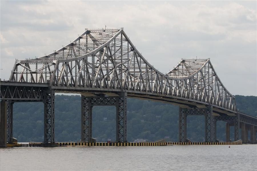 The infrastructure improvement portion of Gov. Cuomo's budget includes over $5 billion-plus for a new Tappan Zee Bridge to be built alongside the existing span (seen here).  Photo courtesy of Brett Weinstein.