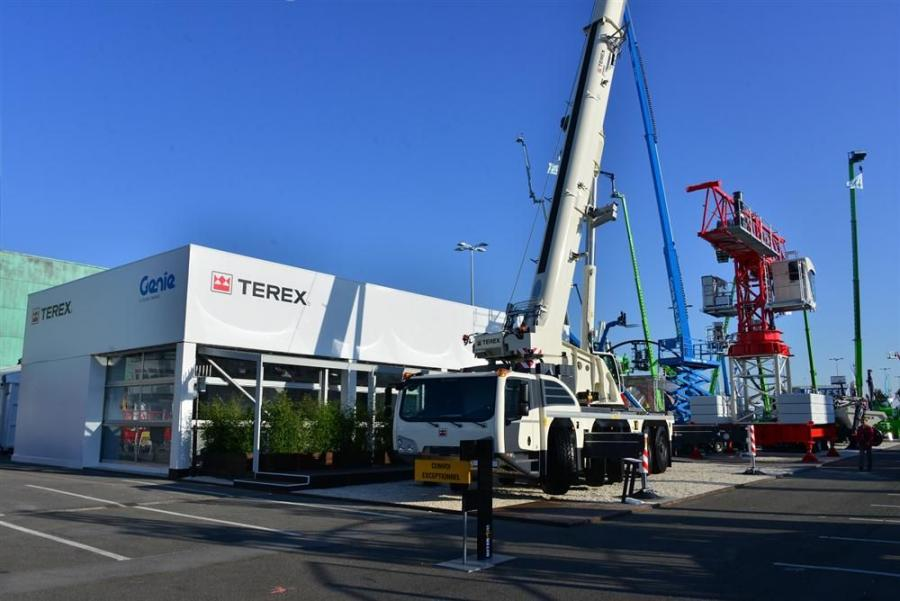 Terex Cranes at Intermat 2015.