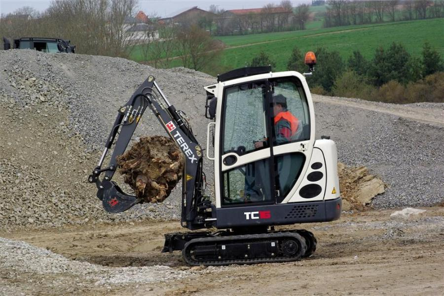 The new Terex TC16 compact excavator.