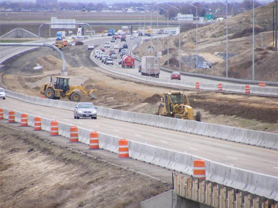 Boise-based contractor Concrete Placing Co. began the Garrity Interchange Bridge project last summer and continued work through the winter