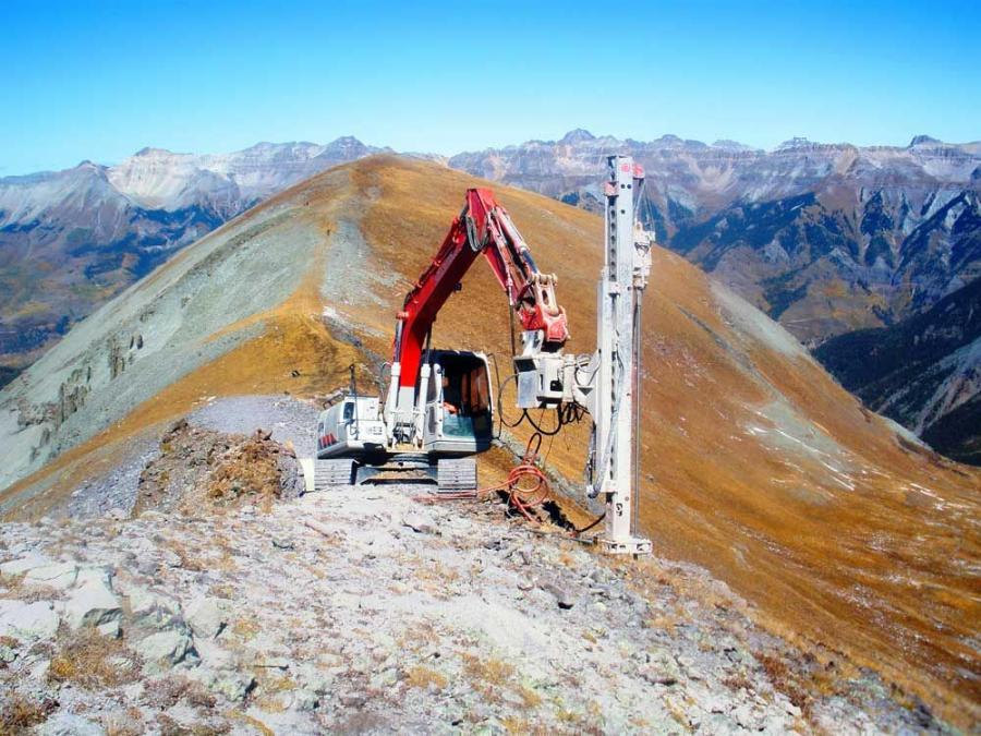 To bring the project up to speed, MCSI used one of its four TEI drills, an HEM-300HT, mounted on a Link-Belt 130LX excavator.