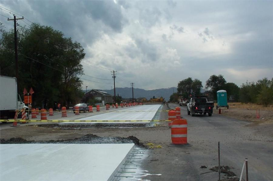 The main portion of construction runs along 700 East from 11400 South to Carnation Drive.