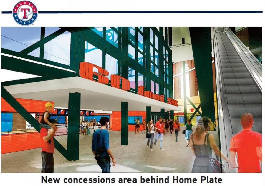 An artist's conception of the new concession stand.
