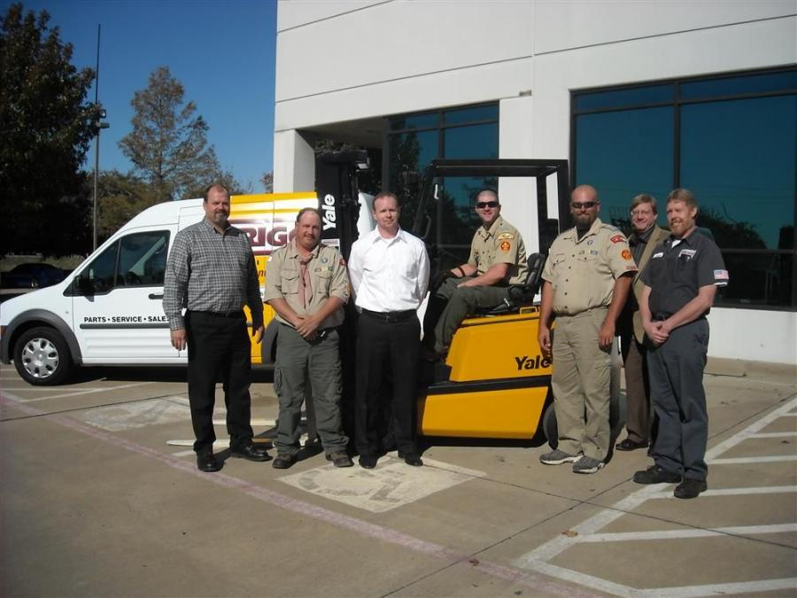 Briggs Equipment donated a Yale fork lift truck to the Boy Scouts of America.