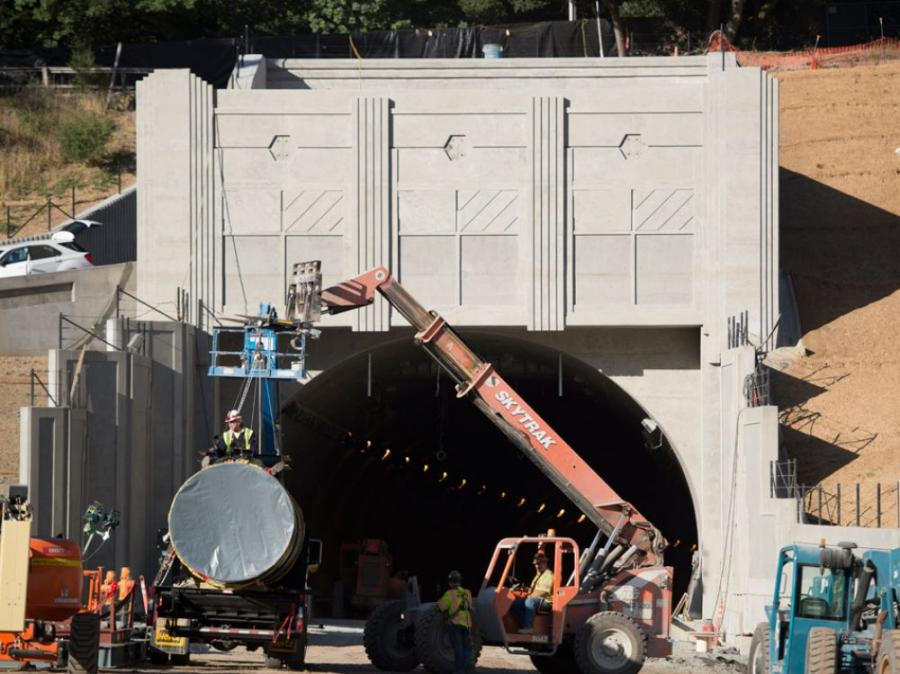 Crews began work on Jan. 13, 2010 for the $417 million project to construct a fourth bore (tunnel) for the Caldecott Tunnel, which is expected to open for traffic in mid-November.