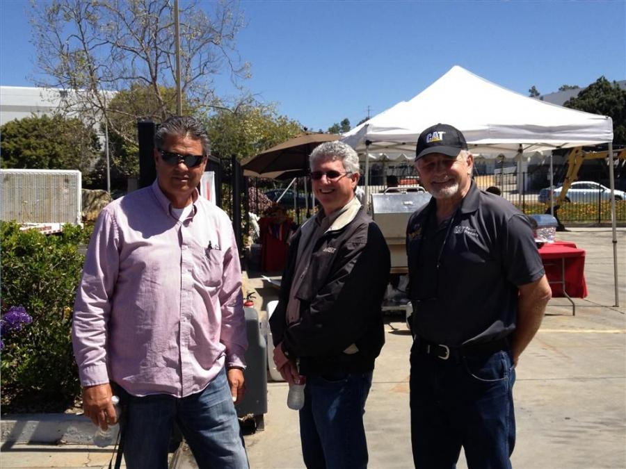 (L-R): Dennis Beede, Marathon General; Steve Gallant, Marathon General and Art Athans, Hawthorne CAT, enjoy the nice weather the day brought for the event.