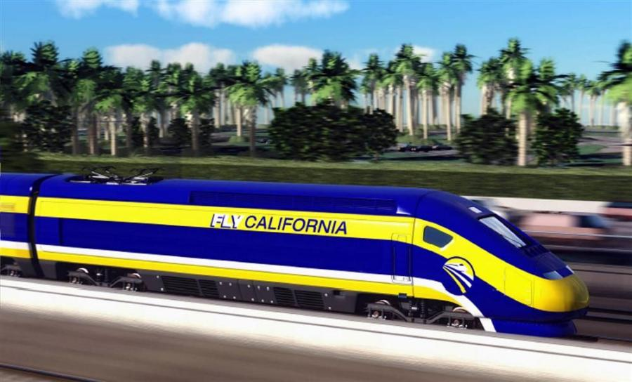 This image provided by the California High-Speed Rail Authority shows an artist's conception of a high-speed rail car in California. Up to 59 percent in a late 2012 USC Dornsife/Los Angeles Times poll said they would turn down high-speed rail, given