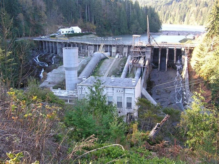 The Elwha Dam was removed earlier this year and its waters receded.