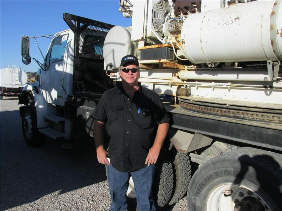 Frank Jones of Waco, Texas, is an independent contractor who has a lot of interest in this Sterling truck with a Reed boring drill.