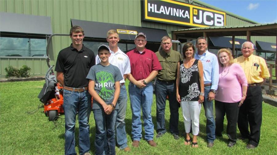 Three of the four generations of Hlavinkas represented (L-R) are Kyle, Patrick, Blake, Byron, Kenneth, Susan, Terry, Patty and Joe Jr. Hlavinka.