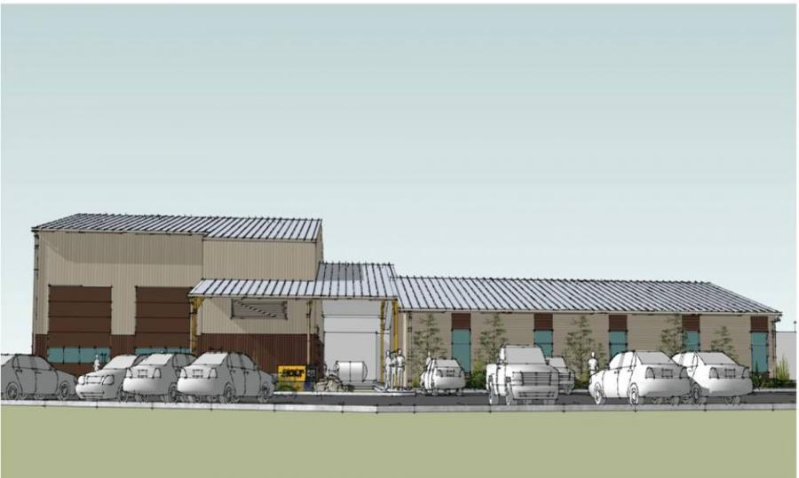 An artist's rendering of the new San Antonio Technical Training facility.