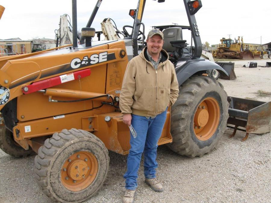 Brian Turner, The Turner Company in Rhome, Texas, said he intends to bid on this Case P 44615 backhoe.