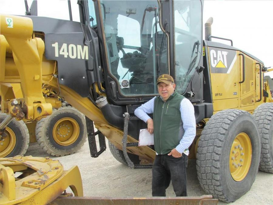 Jose Hernandez of MidTex Equipment in Hidalgo, Texas, likes the responsiveness of this Cat Cat 140M motorgrader.