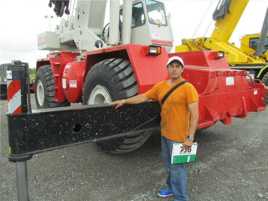 Josue Tuchez of Import Equipco in Guatemala plans on taking this Link-Belt RTC 860 crane home with him.