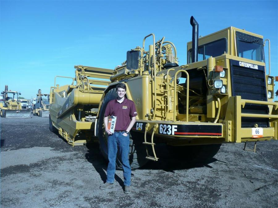 Edward Morris, a student at Arizona State University, working on a project for his heavy civil estimating class, plans to feature this Cat 623F scraper.
