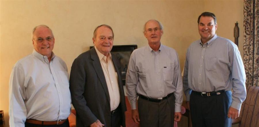(L-R) are: Charlie Clarkson, president of ROMCO Equipment Co.; Bob Mullins, founder and chairman of ROMCO Equipment Co.; Robert Nichols, CEO of Conley Lott Nichols; and Robert Mullins, CEO of ROMCO Equipment Co.