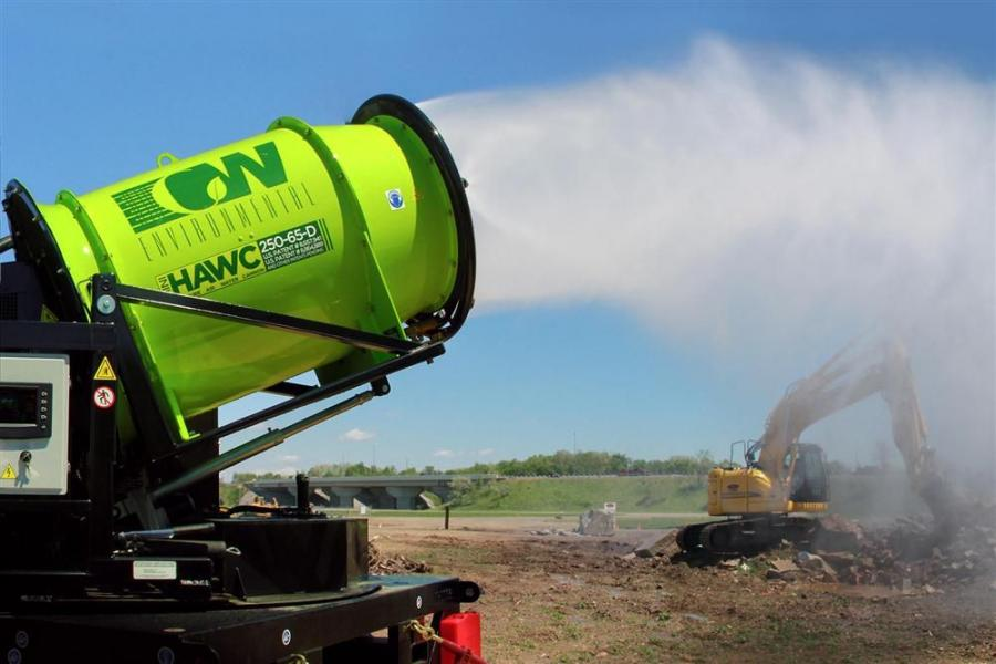 The HAWC/Dust Destroyer – 250-65-D is a diesel self- contained dust suppression system.