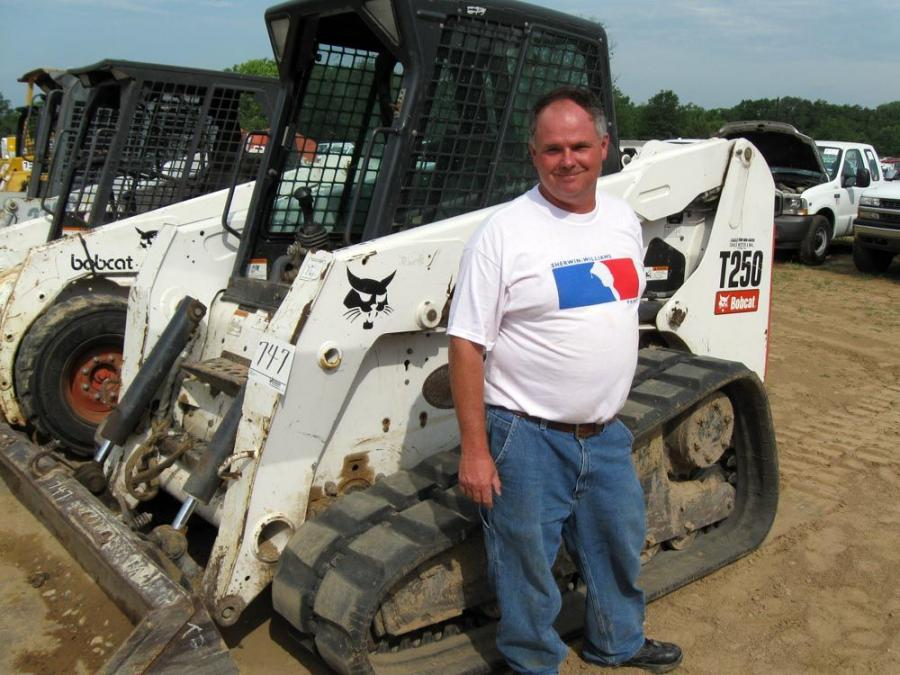Kevin Douglas of Kevin Douglas Construction in New Haven, Ky., tries to make all the Vaughan auctions to see machines like this Bobcat T250.